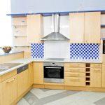 Komplette Küche Kche Aus Holz Mit Blauem Horizontale Industrielook Einbau Mülleimer Aufbewahrungssystem Sonoma Eiche Lüftung Wandsticker Hell Buche Küche Komplette Küche