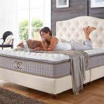 Amerikanisches Bett Boxspringbett 140 160 200 180x200 Velour Altwei Jersey Betten überlänge Krankenhaus Mit Gepolstertem Kopfteil Graues Matratze Und Bett Amerikanisches Bett