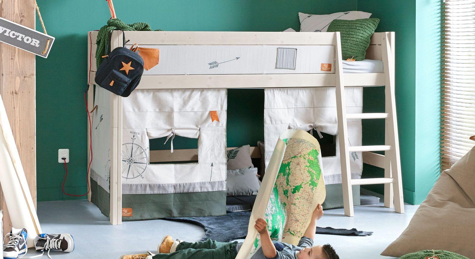 Full Size of Lifetime Midi Hochbett Aus Massiver Kiefer Mit Leiter Survival Wohnwert Betten Bett Günstig Kaufen Französische Bettkasten Amerikanische Jugend Aufbewahrung Bett Lifetime Bett