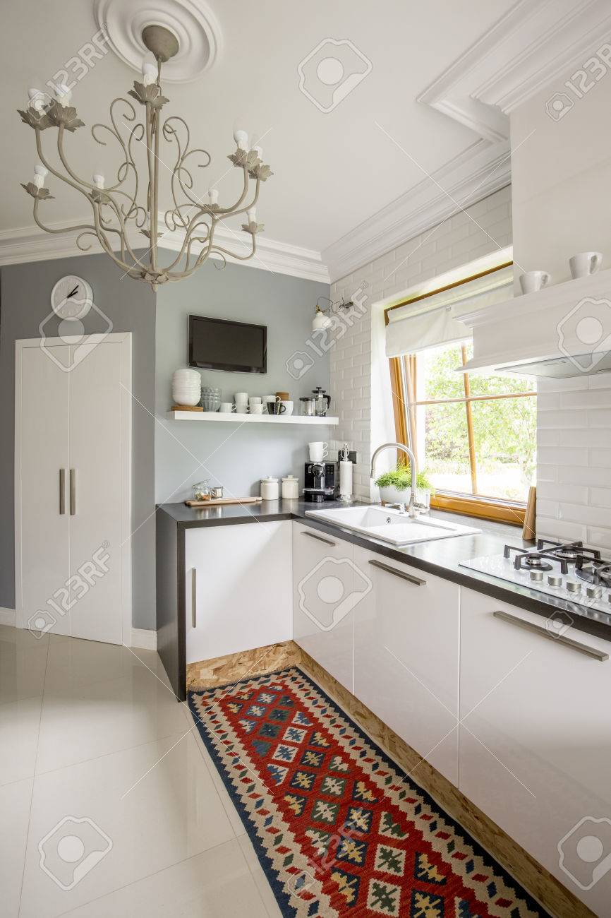 Full Size of Open Plan Kitchen With Patterned Carpet Küche Teppich Küche