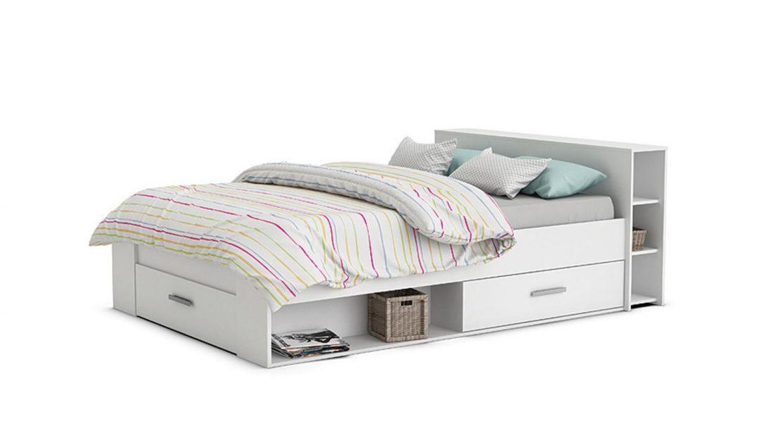 Large Size of Weißes Bett Pocket Einzelbett In Perle Wei Dekor 140x200 Cm Luxus Betten Sofa Hasena 160x200 Home Affaire Rückenlehne Komforthöhe Mit Lattenrost Mädchen Bett Weißes Bett