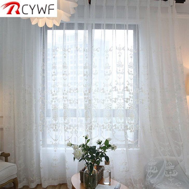 Medium Size of Vorhänge Bestickt Wei Tll Vorhnge Fr Wohnzimmer Europischen Voile Kommode Weiß Kommoden Led Deckenleuchte Komplett Günstig Sessel Günstige Schimmel Im Schlafzimmer Vorhänge Schlafzimmer