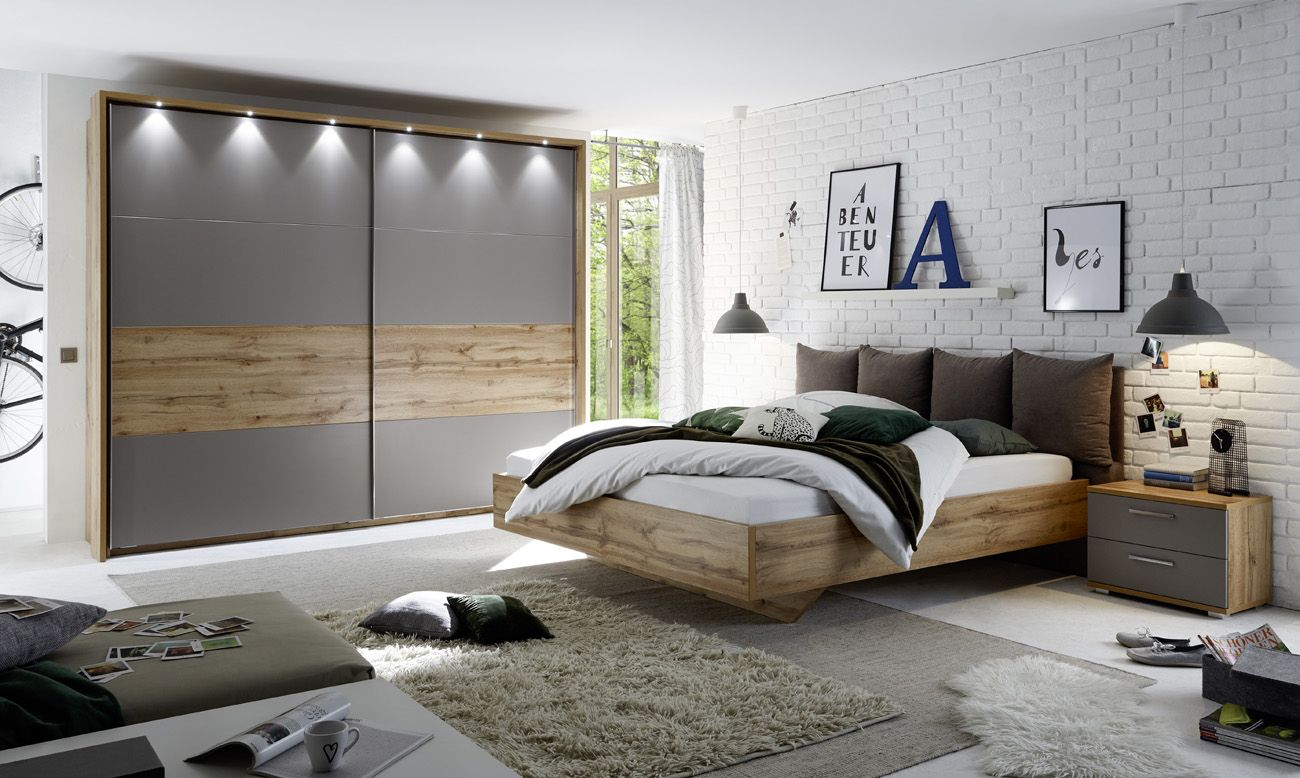 Full Size of Delta Komplettes Schlafzimmer In Basaltgrau Mit Beleuchtung Schränke Weißes Wandtattoos Massivholz Wandlampe Tapeten überbau Günstig Wandleuchte Sessel Set Schlafzimmer Komplette Schlafzimmer