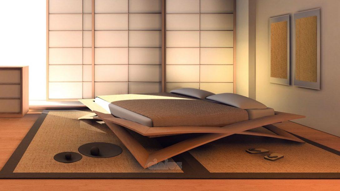 Large Size of Japanisches Bett Kirschholzbett Idfdesign 90x200 Weiß Mit Schubladen Pinolino Bettwäsche Sprüche 140x200 190x90 Minimalistisch Schöne Betten 180x200 Bett Japanisches Bett