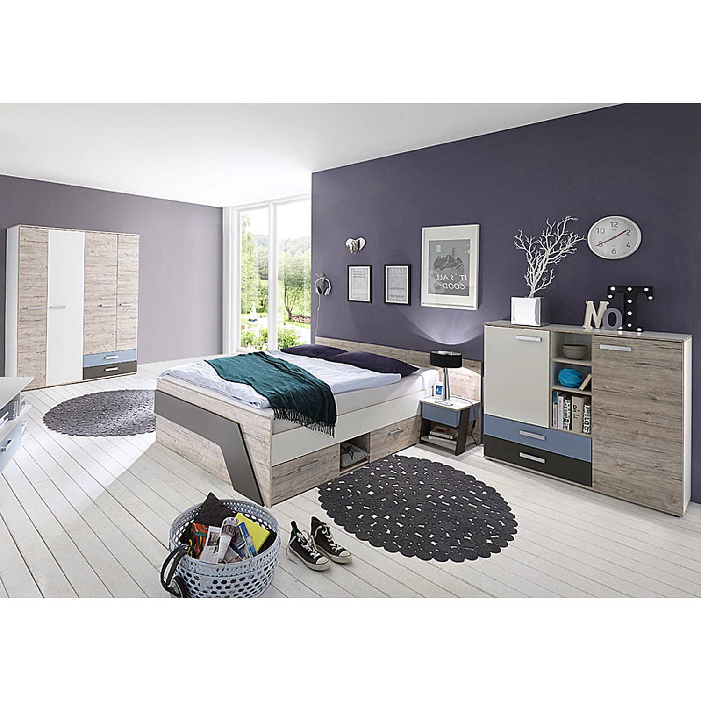 Full Size of Jugendzimmer Set Mit Bett 140x200 Cm 4 Teilig Leeds 10 In Sandeiche Nb Stapelbar Betten München 1 40 Massivholz Hohes Prinzessinen Bette Duschwanne Kopfteil Bett Bett 140x200
