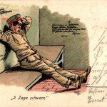 Wandsprüche Küche 3 Tage Schwarz, Soldat Im Gefängnis, Bett, Wandsprüche