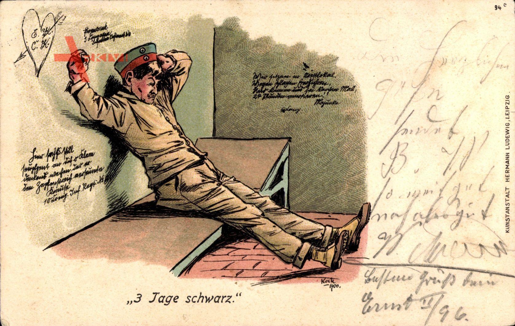 Full Size of 3 Tage Schwarz, Soldat Im Gefängnis, Bett, Wandsprüche Küche Wandsprüche