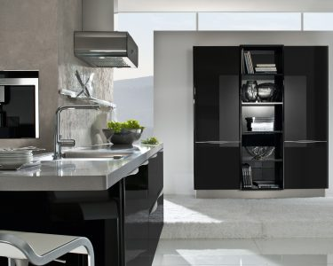 Schwarze Küche Küche Schwarze Küche Mit Holzarbeitsplatte Schwarze Küche Zu Dunkel Schwarze Küche Bauernhaus Schwarze Küche Graue Wand