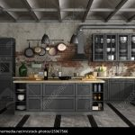 Schwarze Küche Küche Schwarze Küche Ohne Hängeschränke Schwarze Küche Staub Schwarze Küche Holz Arbeitsplatte Schwarze Küche Mittelalter
