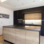 Schwarze Küche Küche Schwarze Küche Schwarze Küche Holzplatte Schwarze Küche Tiefengruben Schwarze Küche Holzboden