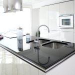 Modern White Kitchen Clean Interior Design Küche Singelküche