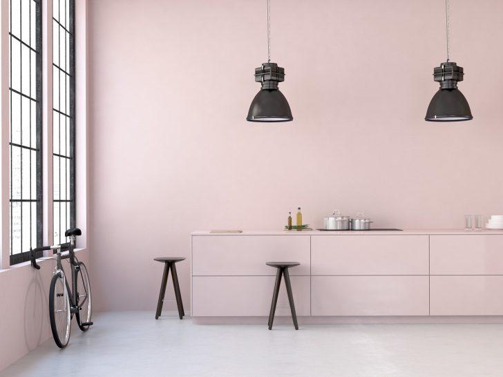 Modern Loft. 3d Rendering Küche Küche Rosa
