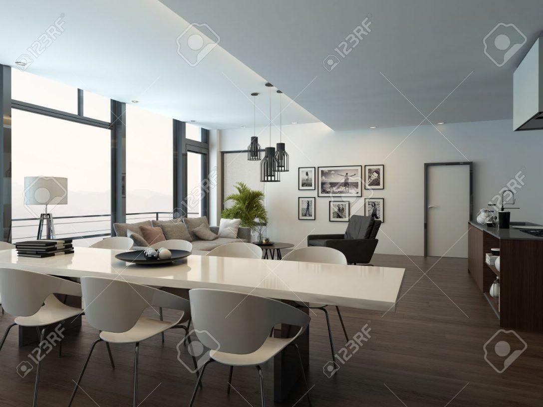 Large Size of Luxury Modern Apartment Living Room Interior Küche Sitzecke Küche