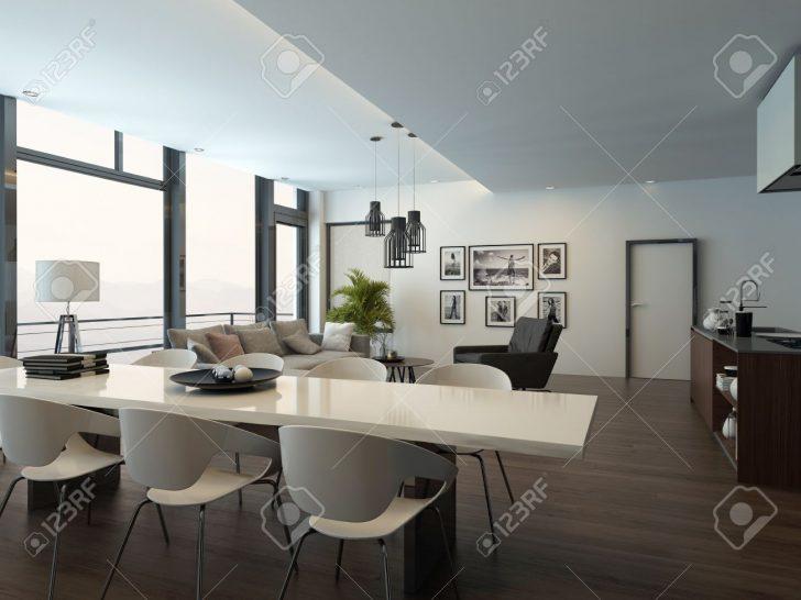 Medium Size of Luxury Modern Apartment Living Room Interior Küche Sitzecke Küche