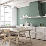 Green Kitchen Corner With Dining Table Küche Küche Sitzgruppe