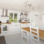 Landhausküche Küche Landhausküche Der Khle Nordische Hauch Durch Eine Skandinavische Landhauskche Gebraucht Weisse Weiß Moderne Grau