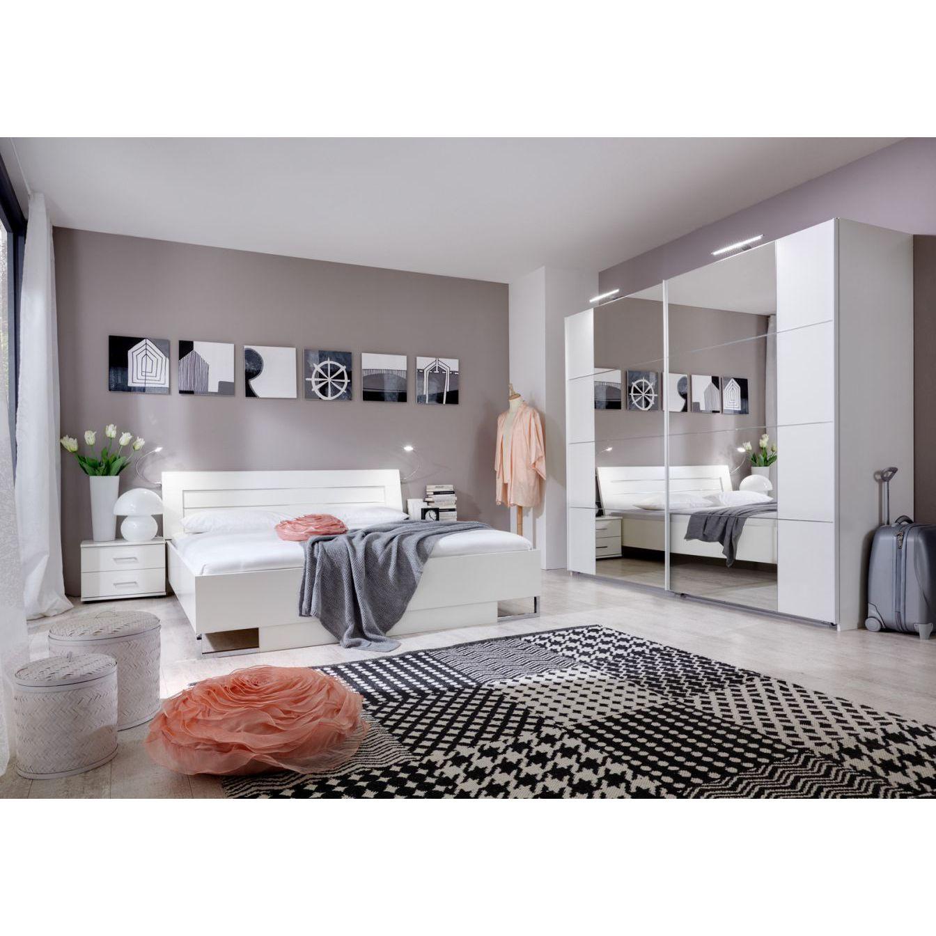 Full Size of Schlafzimmer Set Weiß Komplett Andara E Lampen Landhausküche Mit überbau Regal Hochglanz Wohnzimmer Vitrine Vorhänge Deckenleuchten Kinderzimmer Metall Schlafzimmer Schlafzimmer Set Weiß