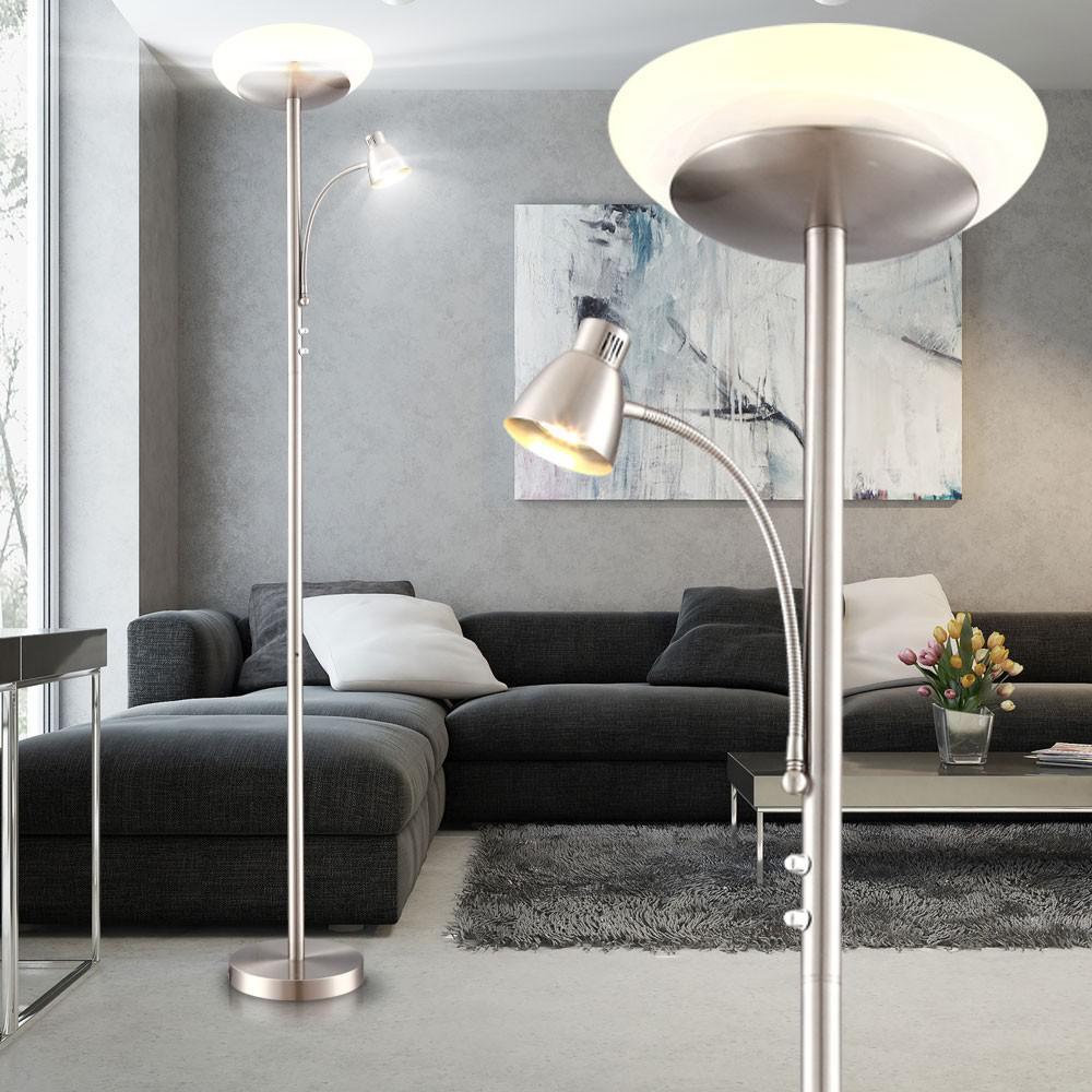 Full Size of Stehlampe Wohnzimmer Led Deckenfluter Standleuchte Leselampe Decke Stehleuchte Deckenlampe Fototapeten Deko Schrankwand Relaxliege Teppich Anbauwand Wohnzimmer Stehlampe Wohnzimmer