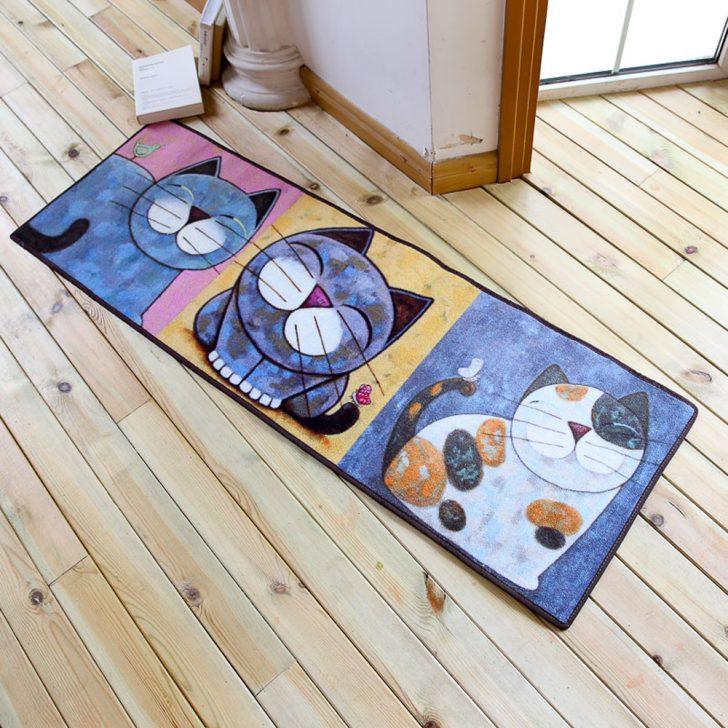 Medium Size of Teppich Für Küche Koreanische Cartoon Katze Serie Schne Tier Muster Kche Miniküche Mit Kühlschrank Armatur Selber Planen Weiss Rollwagen Einbauküche Küche Teppich Für Küche