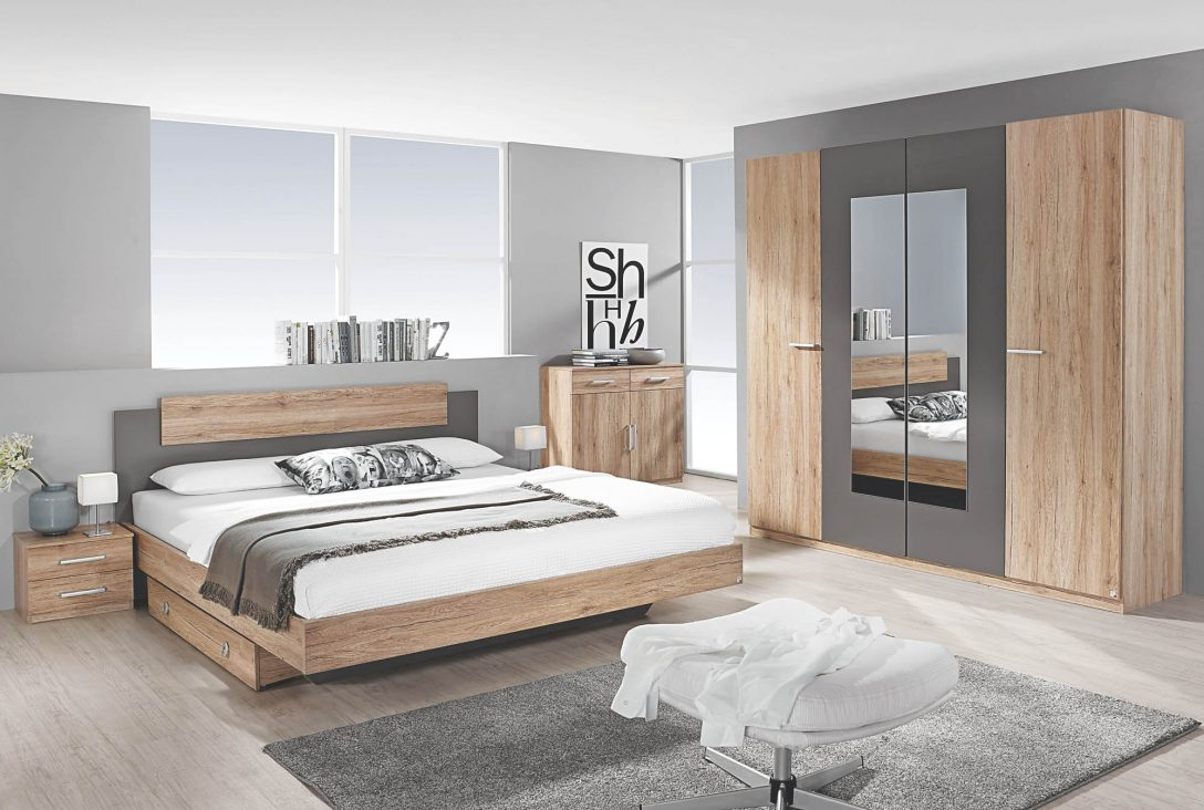 Large Size of Bett Sonoma Eiche 140x200 Schlafzimmer 4 Tlg Borba Von Rauch Packs Mit 160x200 Kopfteil Selber Bauen Konfigurieren Ohne Regal Massiv Skandinavisch Bett Bett Sonoma Eiche 140x200