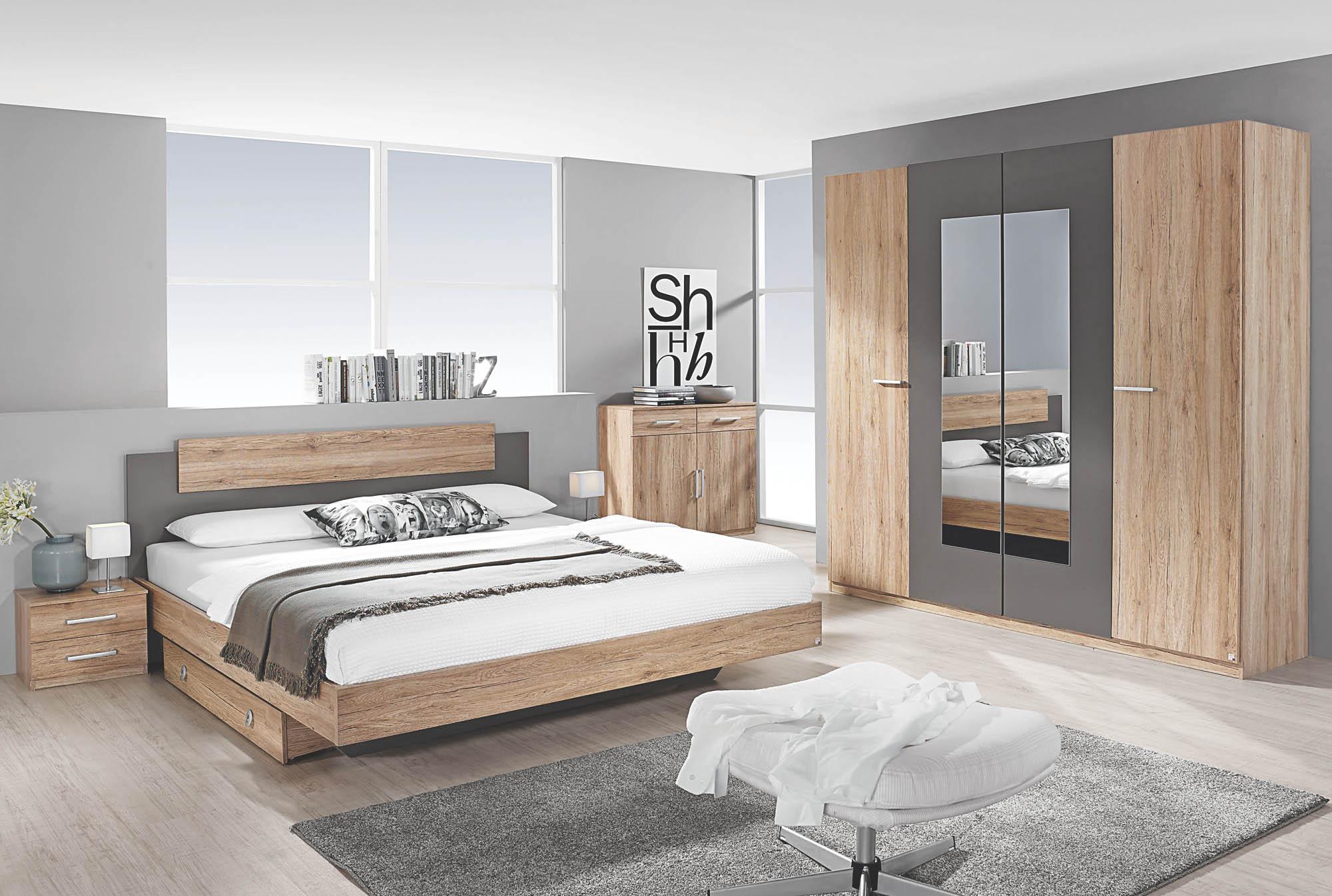 Full Size of Bett Sonoma Eiche 140x200 Schlafzimmer 4 Tlg Borba Von Rauch Packs Mit 160x200 Kopfteil Selber Bauen Konfigurieren Ohne Regal Massiv Skandinavisch Bett Bett Sonoma Eiche 140x200
