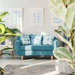 Floral Living Room Interior Wohnzimmer Wohnzimmer Teppich