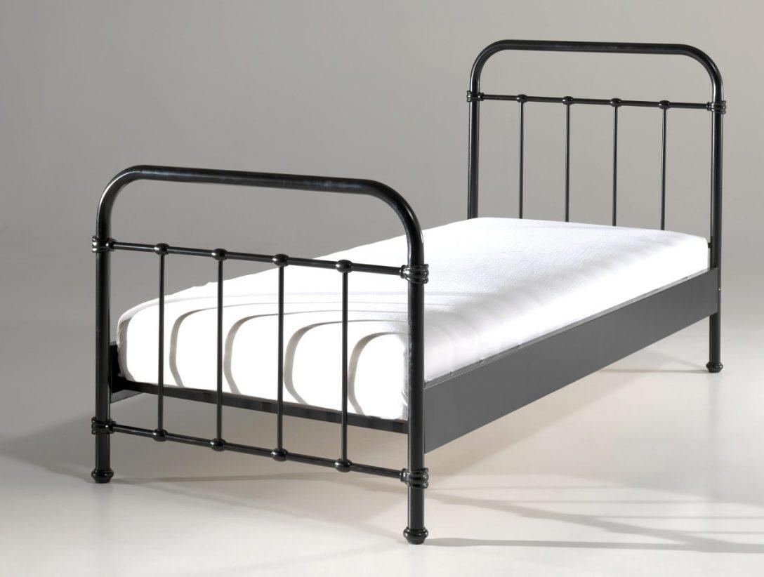 Large Size of Metall Bett Metallbett New York Liegeflche 90 200 Cm Schwarz Moebel Buche Rauch Betten 180x200 Weiß Mit Schubladen Günstig 120x200 Oschmann Hohes Bett Metall Bett