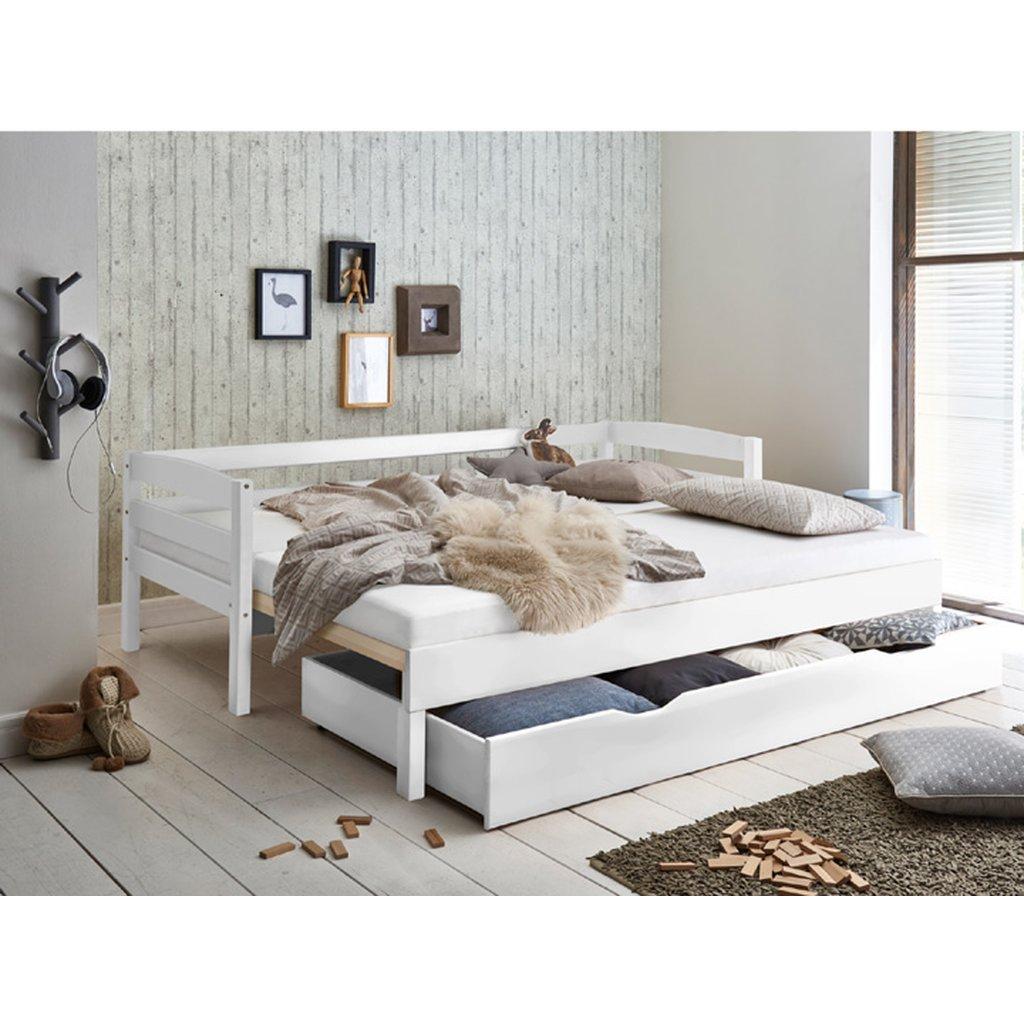 Full Size of Bett Emilia Ausziehbar 90 180 200cm Funktionsbett Buche Massiv Dormiente Betten Aus Holz Sonoma Eiche 140x200 Luxus 120 X 200 90x200 Mit Lattenrost 220 Bett Bett Ausziehbar