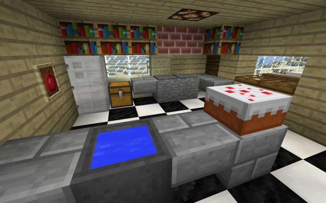 Large Size of Küche Bauen Kche In Minecraft Bauideende Schubladeneinsatz Fliesenspiegel Selber Machen Hängeregal Spritzschutz Plexiglas Vorratsdosen Wandtattoos Led Küche Küche Bauen