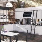 Moderne Landhauskche Sofia Wei Eiche Mbelhaus Küche Sideboard Mit Arbeitsplatte L Elektrogeräten Gardinen Für Die Fliesenspiegel Glas Landhausküche Küche Weiße Küche
