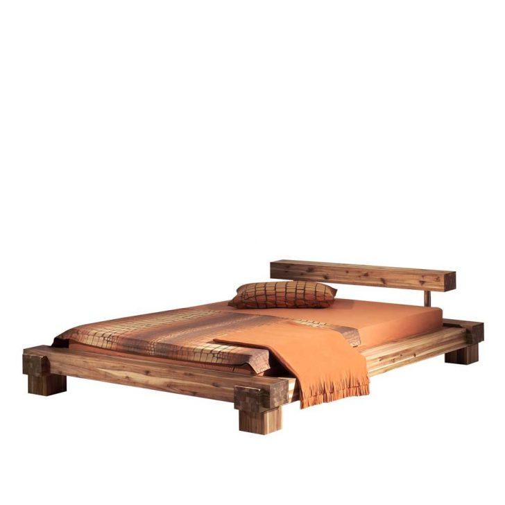 Medium Size of Bett Balken Termi Aus Akazie Massivholz In Optik Wohnende Liegehöhe 60 Cm Einfaches Mit Gepolstertem Kopfteil Stauraum Schlafzimmer Set Boxspringbett Ohne Bett Bett Balken