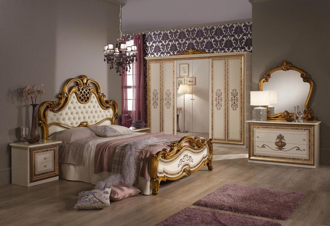 Large Size of Bett Anja 180x200 Beige Gold Italien Schlafzimmermbel Barock Kingsize Feng Shui Rauch Betten Weißes Günstig Kaufen 80x200 Balken Günstige Wasser Bett Barock Bett