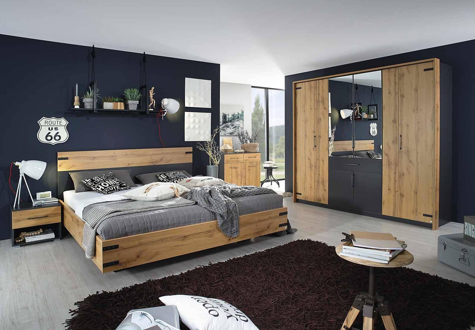 Full Size of Schlafzimmer Komplett Set 4 Teilig Eiche Wotan Gnstig Online Luxus Küche Mit Elektrogeräten Günstig Eckschrank Komplettes Bett Kaufen Komplettangebote Schlafzimmer Komplett Schlafzimmer Günstig