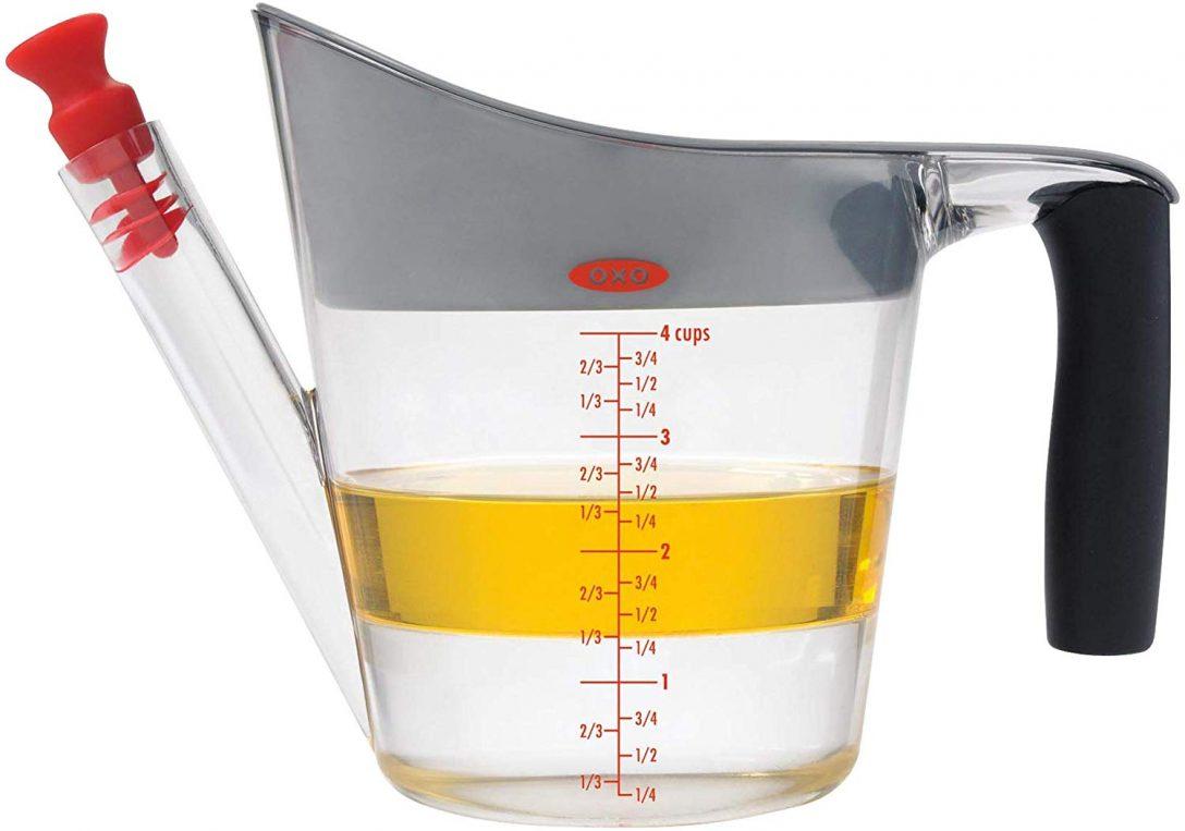 Large Size of Fettabscheider Küche Oxo Good Grips 1 Liter Amazonde Kche Haushalt Aufbewahrung Wellmann Wandpaneel Glas Industriedesign Blende Wandsticker Rolladenschrank Küche Fettabscheider Küche