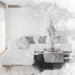Vorhang Wohnzimmer Wohnzimmer Fine Art Textured Sketch Of A Living Room Interior