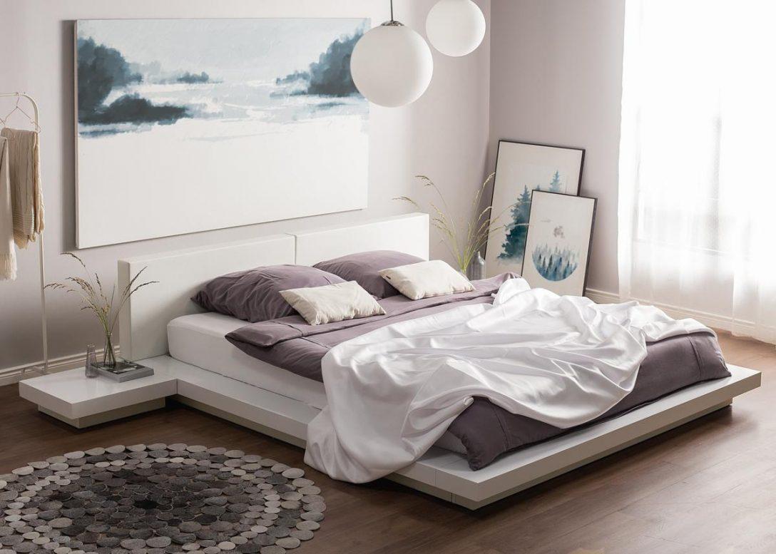 Large Size of Weiße Betten Japanisches Designer Holz Bett Japan Style Japanischer Stil Test 90x200 Ikea 160x200 Coole Xxl Dico Jensen Schlafzimmer Rauch 140x200 Bett Weiße Betten