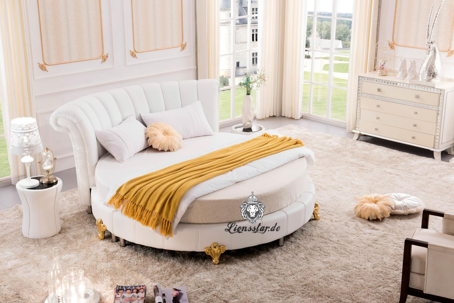 Full Size of Rundes Designer Bett Wei Lionsstar Gmbh Funktions Sonoma Eiche 140x200 Inkontinenzeinlagen Kopfteil Bette Starlet Weißes 120 X 200 Amerikanische Betten Bett Rundes Bett