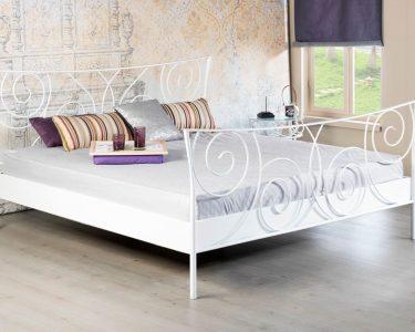 Bett Metall Bett Bett Metall Sofia Wei Romantisches Metallbett In Vielen Gren 160x200 Tatami Tagesdecken Für Betten Holz Nolte Mit Matratze Und Lattenrost 140x200 Hohes