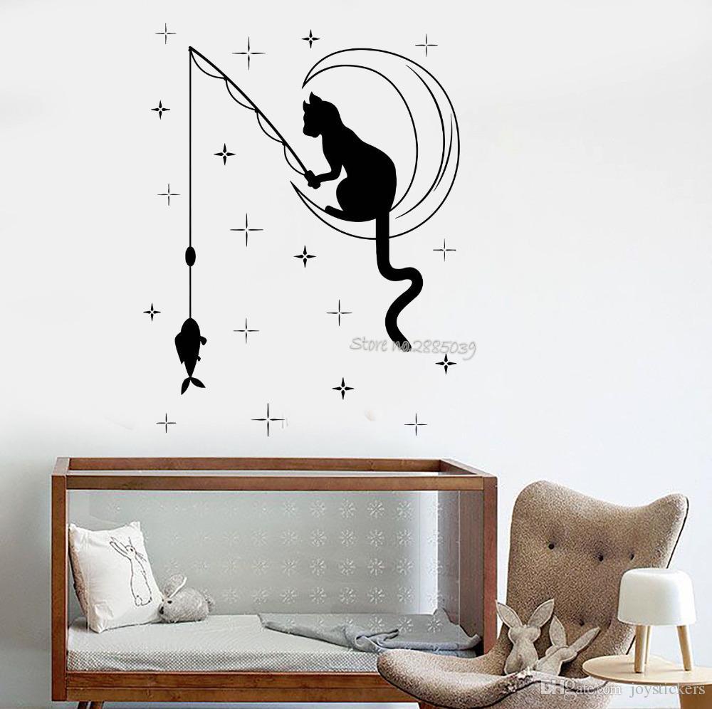 Full Size of Wandtattoo Schlafzimmer Katze Angeln Sterne Vinyl Baby Nolte Günstige Komplett Set Mit Matratze Und Lattenrost überbau Tapeten Sprüche Schränke Lampen Schlafzimmer Wandtattoo Schlafzimmer