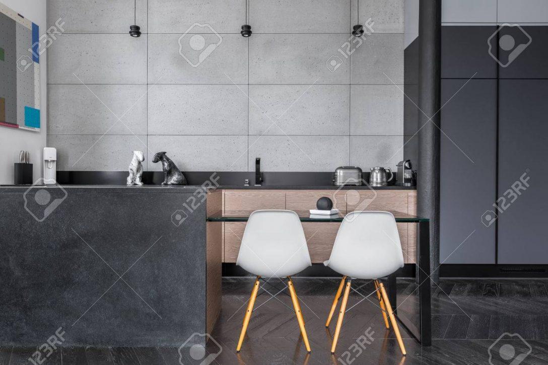 Large Size of Kitchen With Grey Wall Tiles Küche Wandfliesen Küche