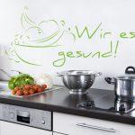 Weiße Küchenzeile Küche Wandtattoos Küche