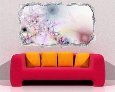 Wandtattoos Wohnzimmer Wohnzimmer Wandtattoos Wohnzimmer 3d Wandtattoo Durchbruch Effekt Blume Blumen Rosa Pink Abstrakt Kunst Textur Muster Wand Aufkleber Wanddurchbruch Sticker Selbstklebend