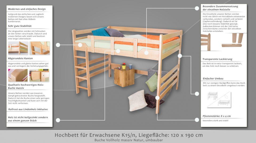 Large Size of Bett 120x190 Hochbett Fr Erwachsene Easy Premium Line K15 N Aus Paletten Kaufen Im Schrank 120x200 Massiv Wohnwert Betten Hoch Poco Französische Runde Kinder Bett Bett 120x190