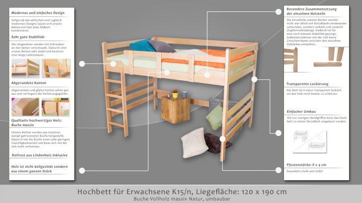 Bett 120x190 Hochbett Fr Erwachsene Easy Premium Line K15 N Aus Paletten Kaufen Im Schrank 120x200 Massiv Wohnwert Betten Hoch Poco Französische Runde Kinder Bett Bett 120x190