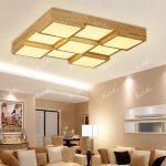 Wohnzimmer Deckenleuchten Wohnzimmer Wohnzimmer Led Dimmbar Messing Kreative Eiche Schlafzimmer Lamparas Techo Colgante Hause Holz Leuchte Von
