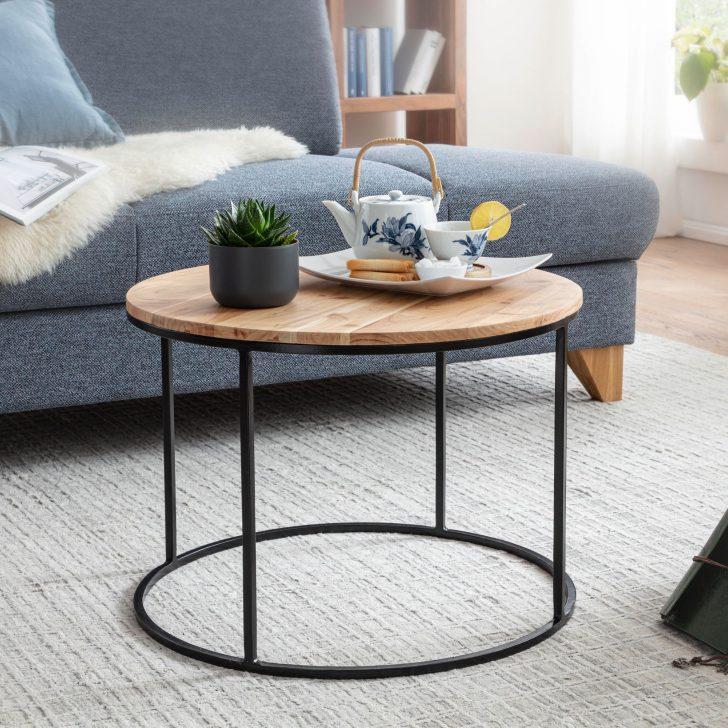 Medium Size of Wohnzimmer Tisch Wohnling Couchtisch 60x43x60 Cm Akazie Massivholz Metall Sofatisch Design Wohnzimmertisch Rund Kaffeetisch Massiv Kleiner Esstisch Grau Liege Wohnzimmer Wohnzimmer Tisch
