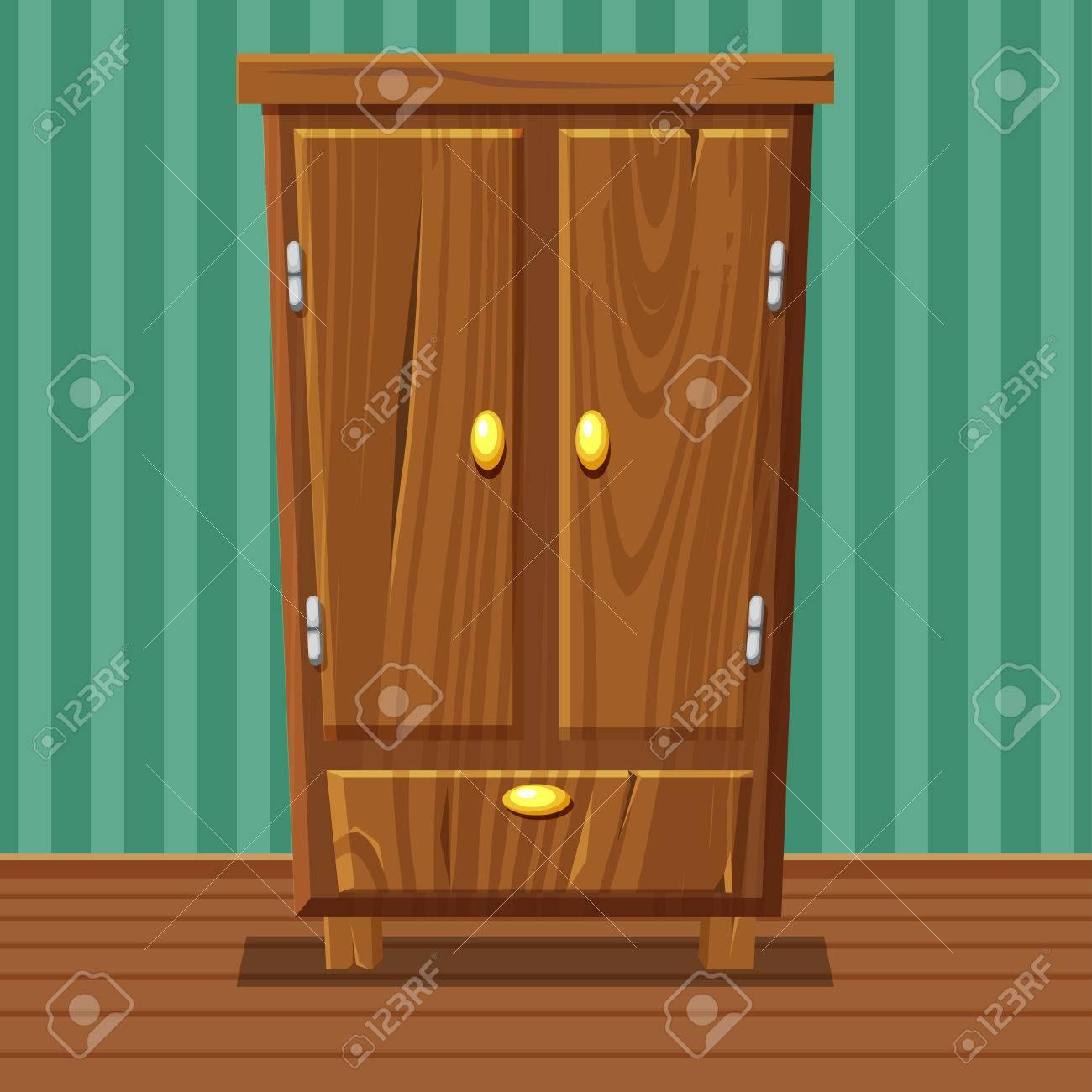 Full Size of Cartoon Funny Closed Wardrobe, Living Room Wooden Furniture Wohnzimmer Schrank Wohnzimmer