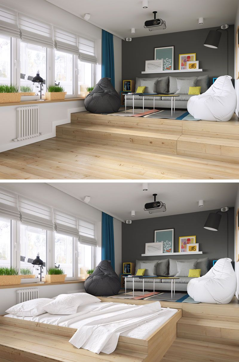 Full Size of Bett Platzsparend A Clever Design Solution For Bed In Small Apartment Prinzessin 120x200 Badewanne Bette Schwebendes Ebay Betten 180x200 Mit Matratze Bett Bett Platzsparend