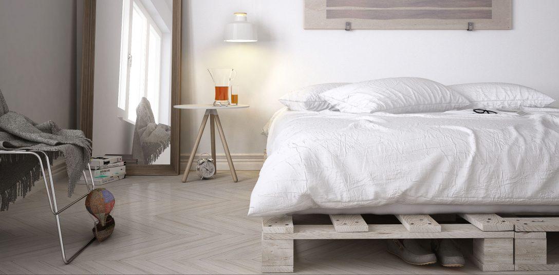 Large Size of Paletten Bett 140x200 Palettenbett Bauen Diy Zum Gnstigen Single Oder Doppelbett Matratze Clinique Even Better Modernes Betten überlänge Leander Holz Bett Paletten Bett 140x200