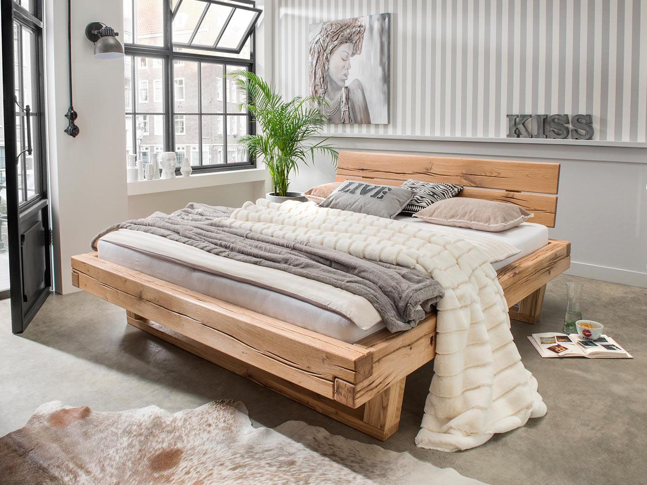 Full Size of Bett Balken Vannkilde Wildeiche Massivholz Balkenbett Thor Bette Floor Wasser Günstig Kaufen Mit Aufbewahrung 160x220 Hülsta Betten Ikea 160x200 Stauraum Bett Bett Balken